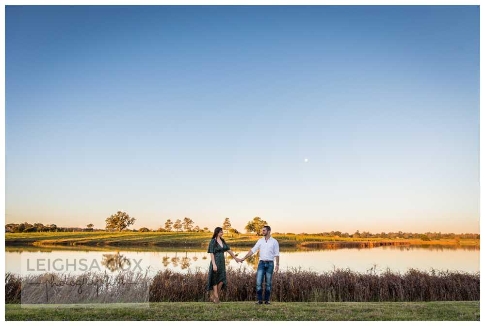 Sunset Engagement Portraits Maitland