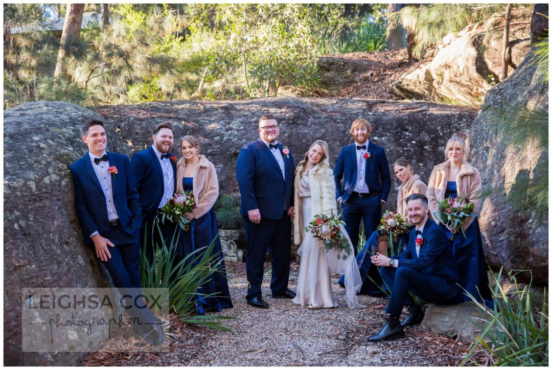 blue mountains bridal party