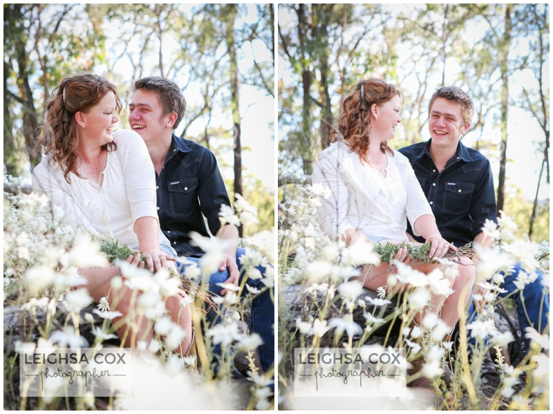 flannel flowers Engagement Session