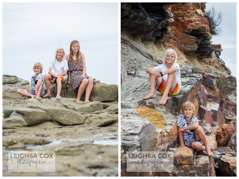 Caves Beach Family Portraits