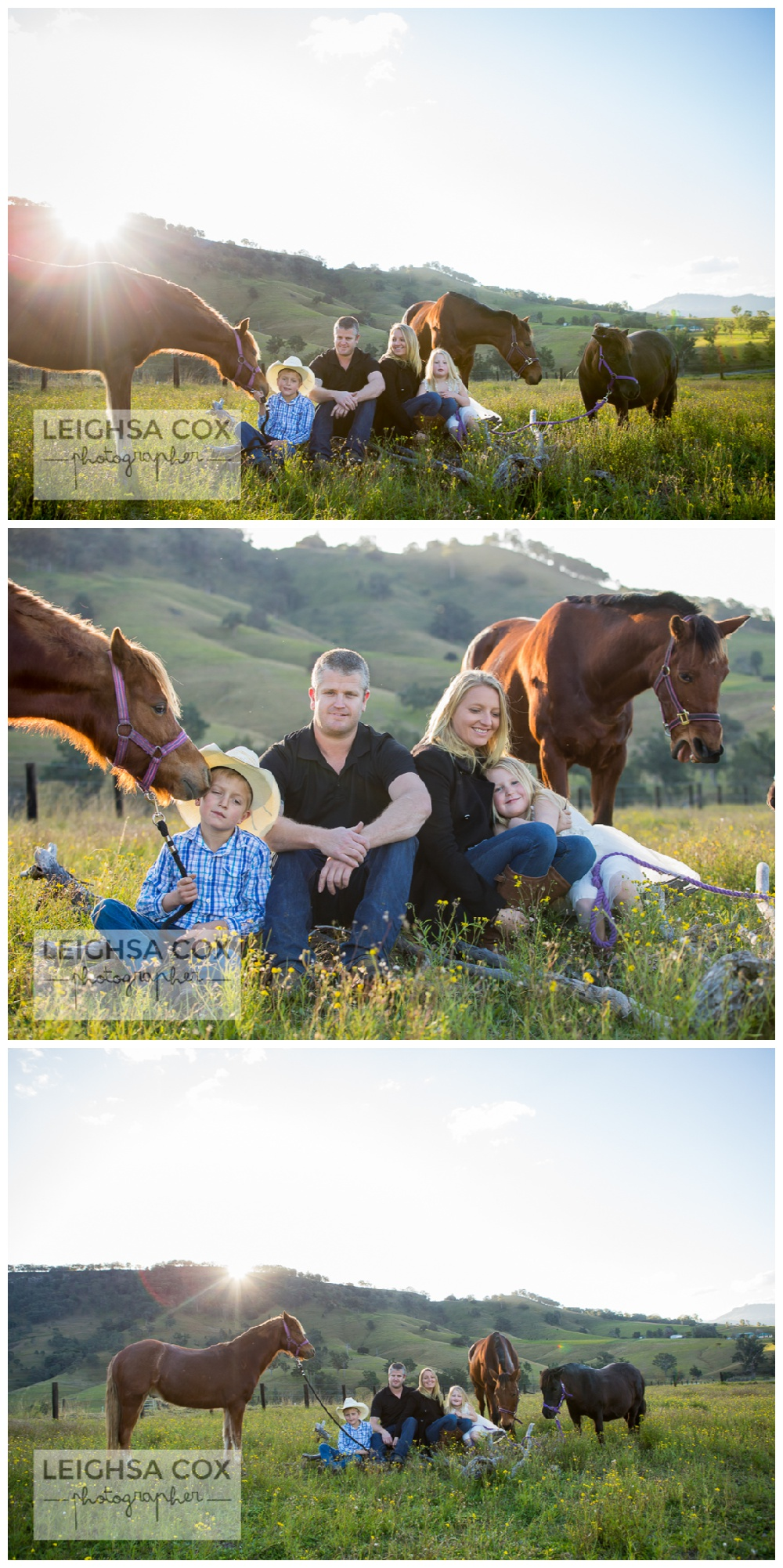 beautiful family portraits with horses