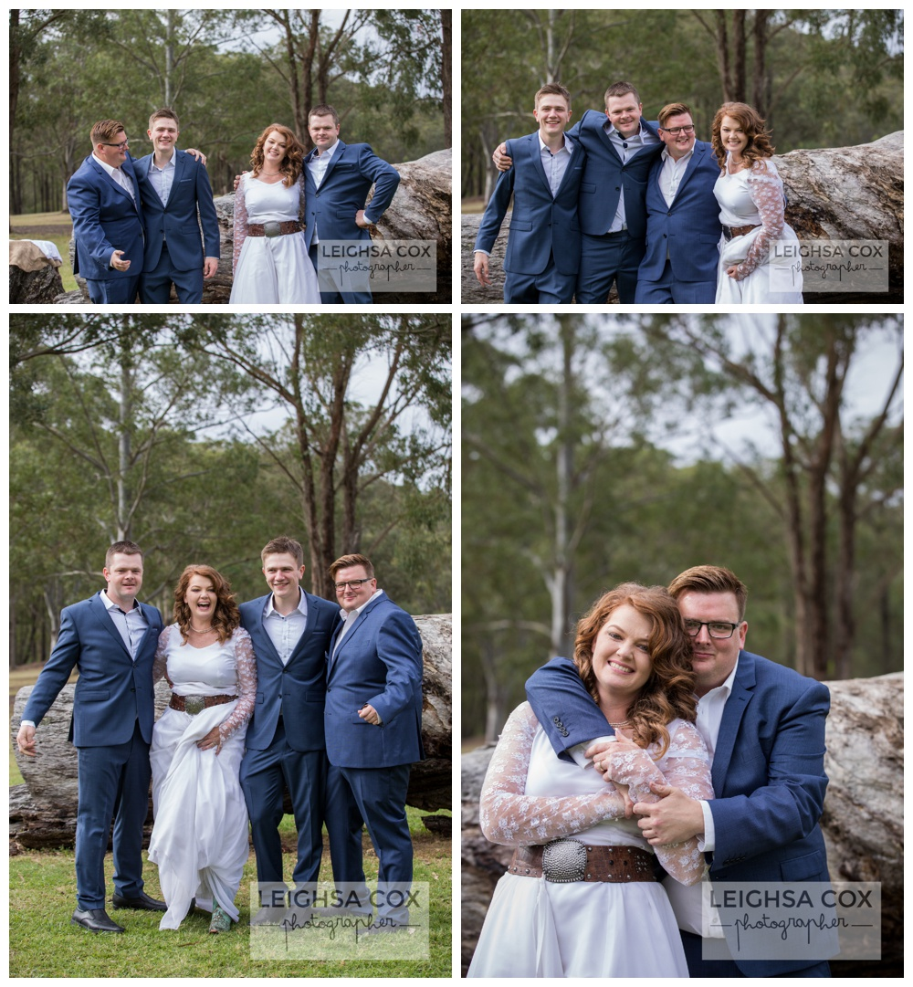 Riverwood Downs wedding bridal party