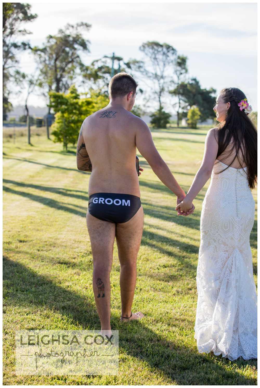groom's butt