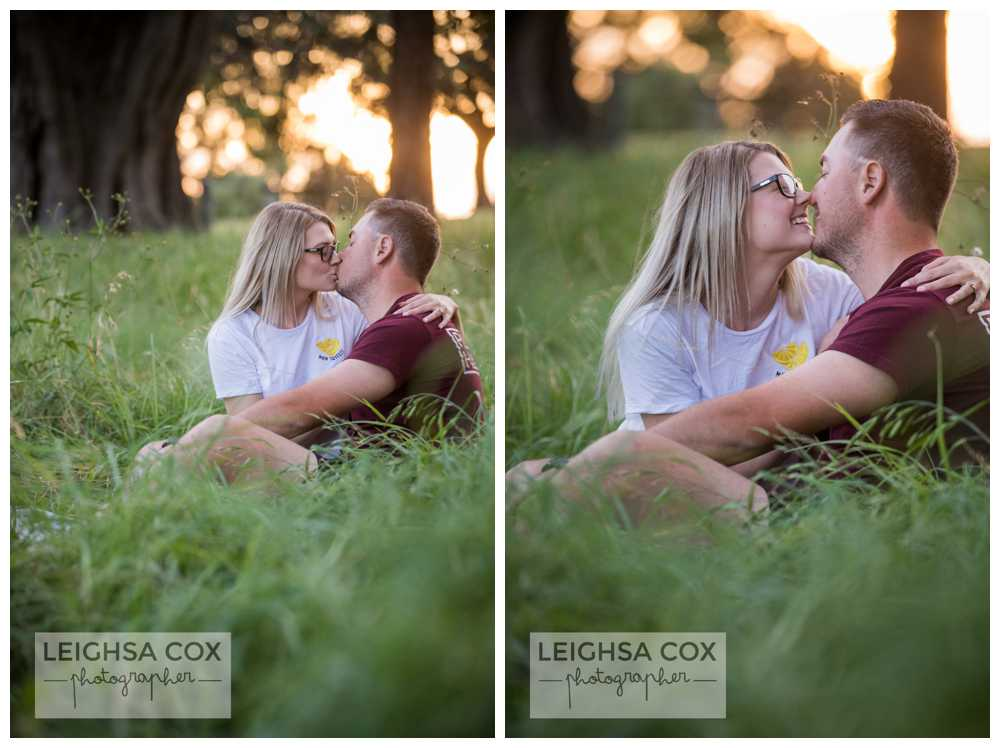 Engaged hunter Valley Couple