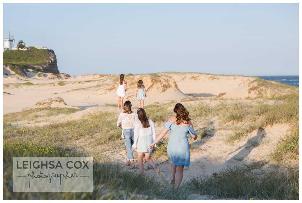 Family of girls - Nobbys Beach