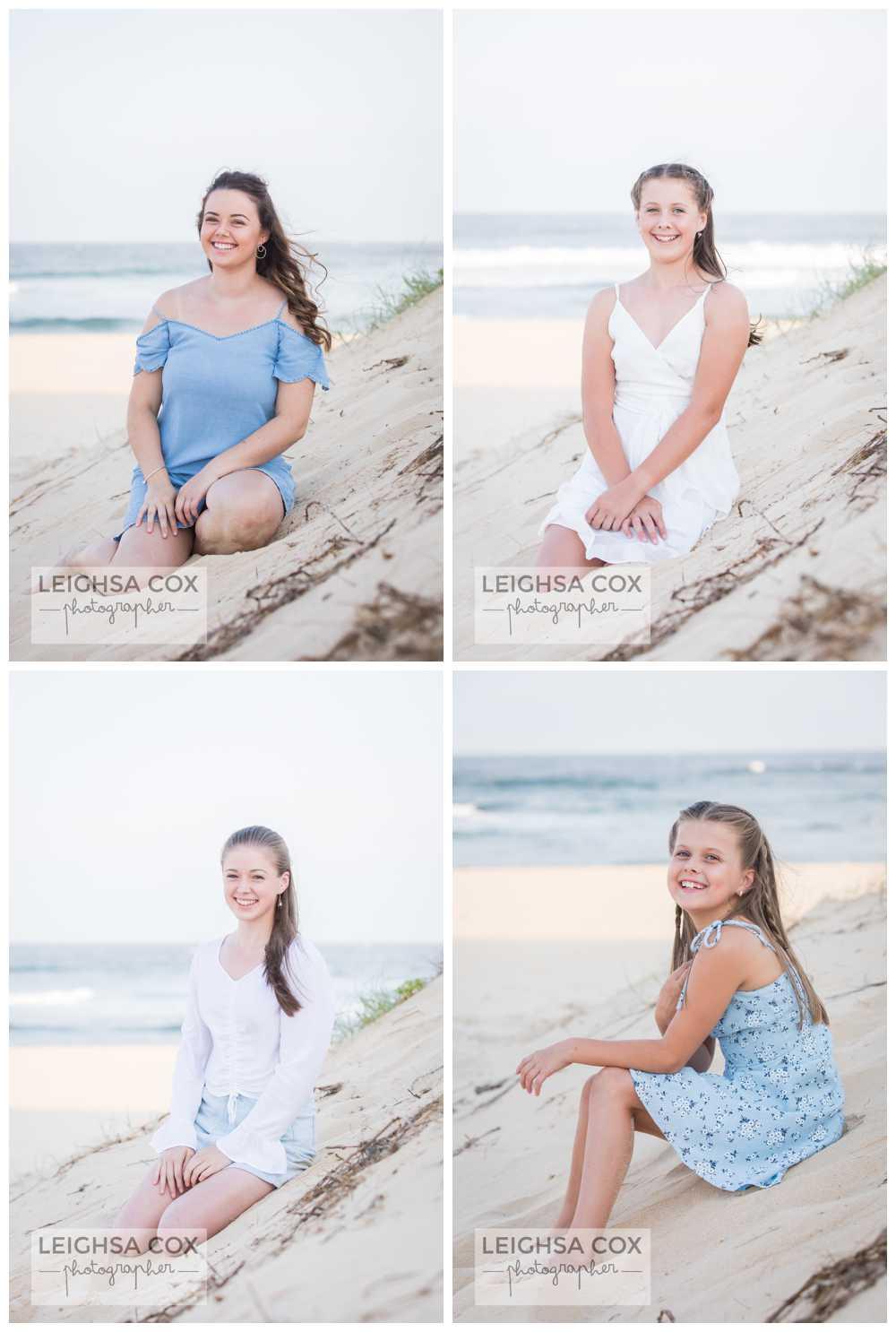 Nobbys Beach portraits