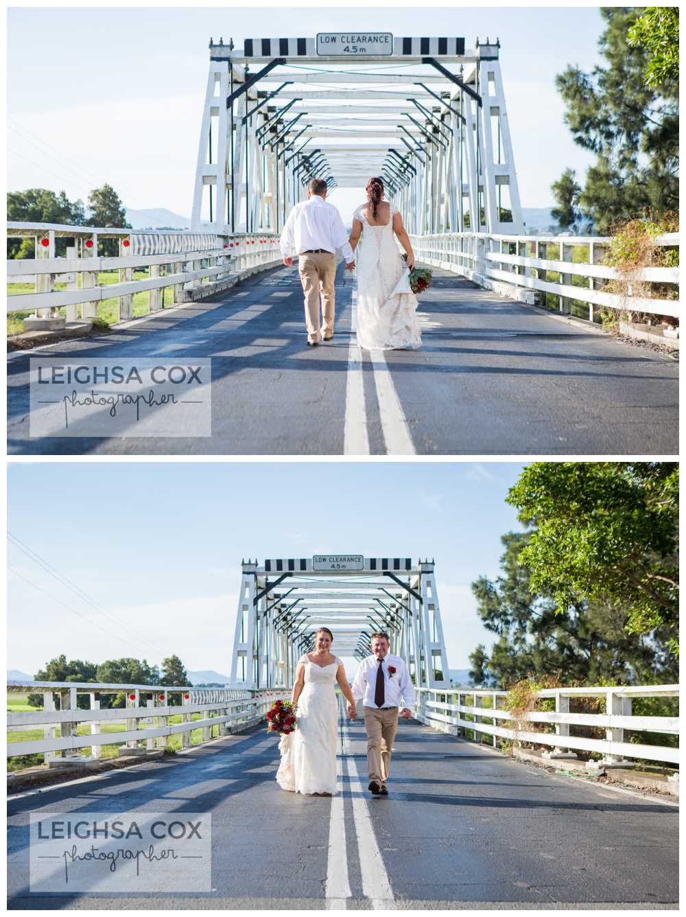 morpeth bridge wedding couple