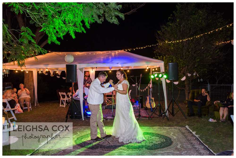Beautiful Backyard Wedding first dance