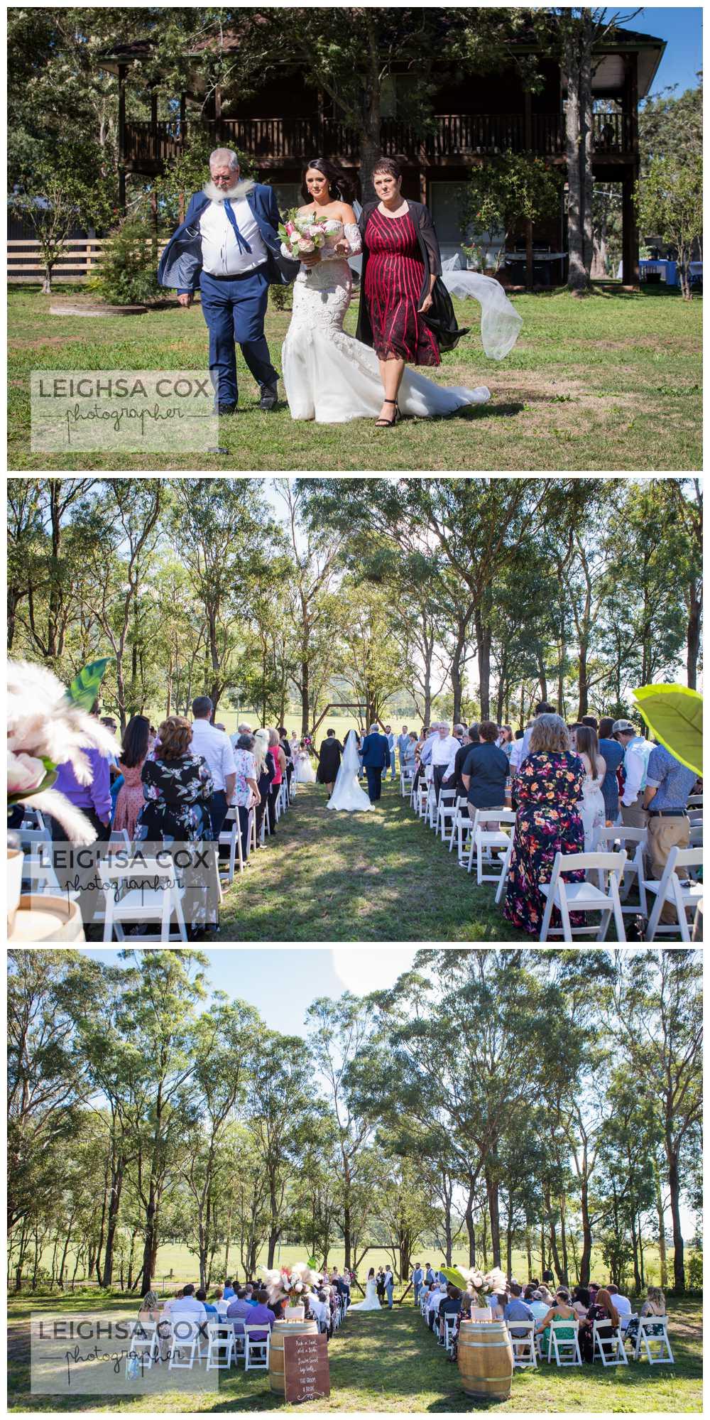 bride walk down isle