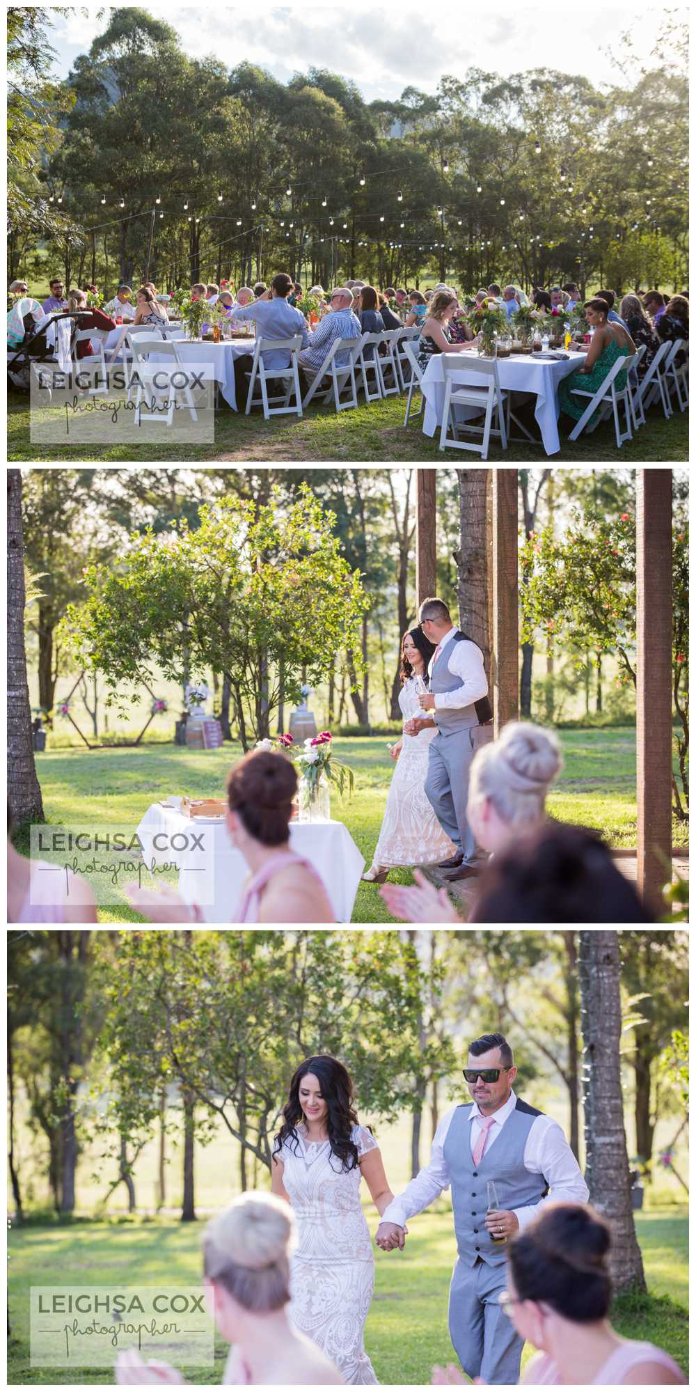 bistro lights wedding reception