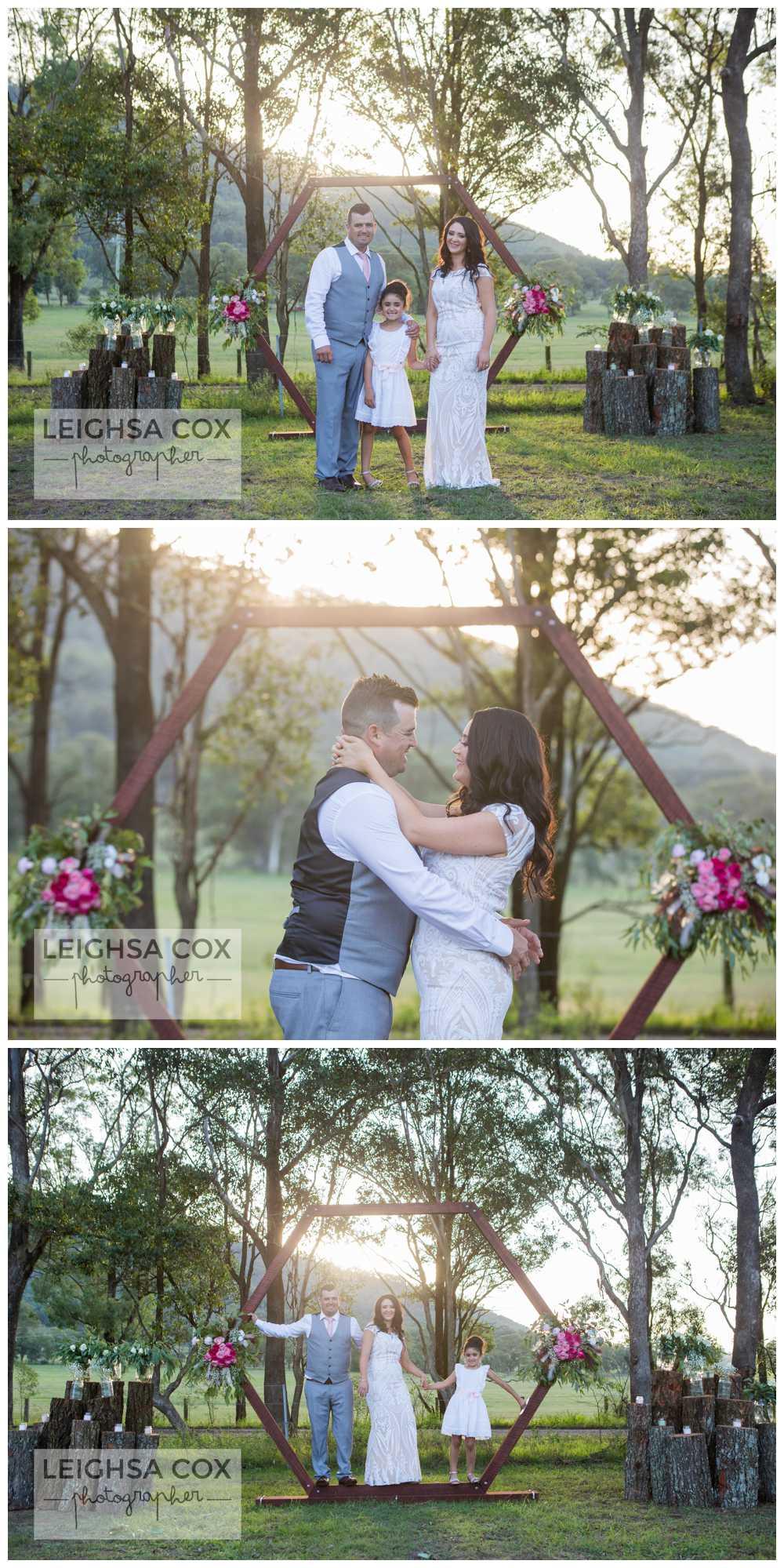 wedding arbour family