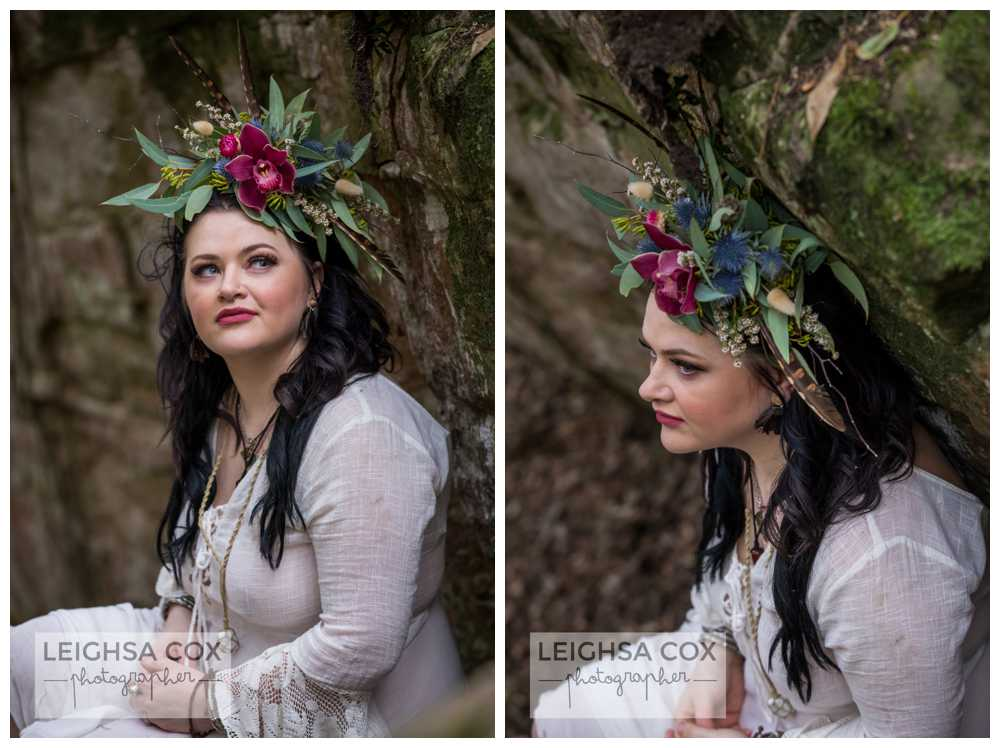 Rainforest couture botanical headpiece