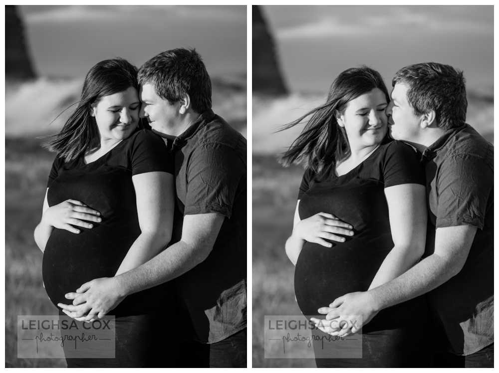 black and white Maternity Portraits