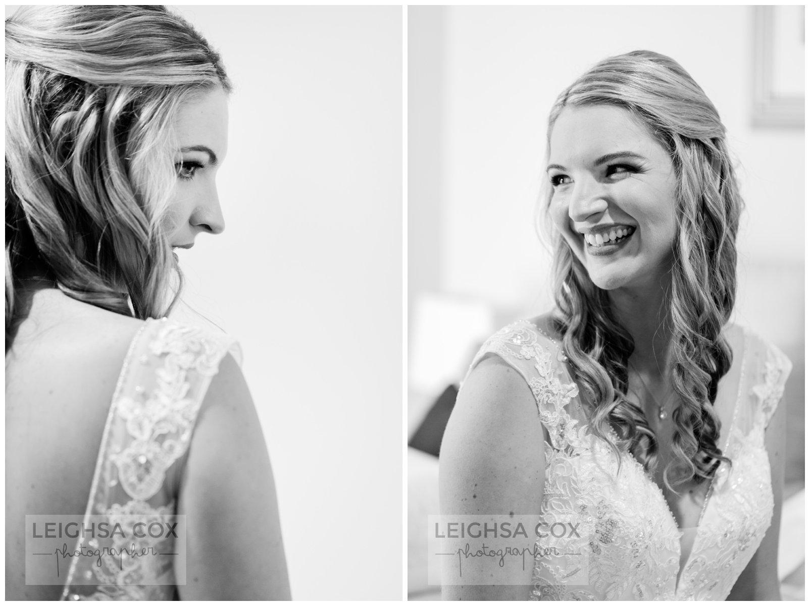 beautiful bride black and white