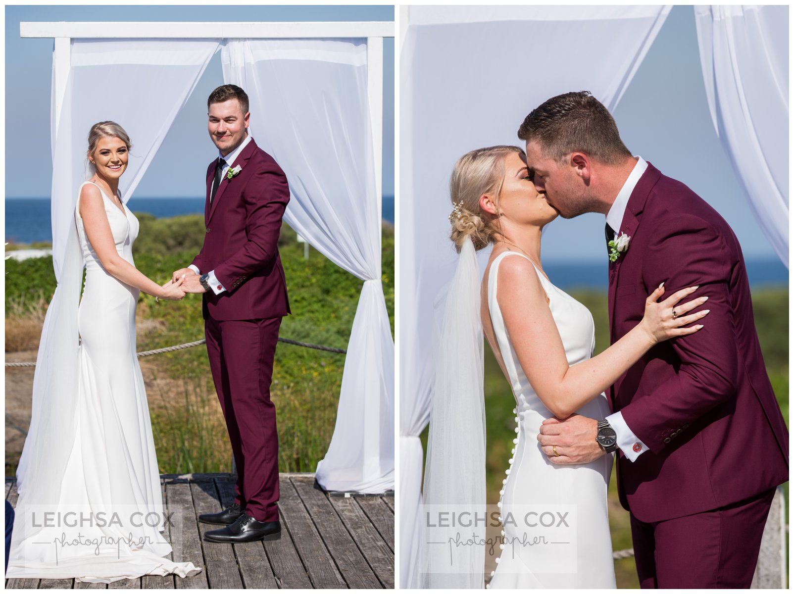 Caves Beach Resort Wedding ceremony