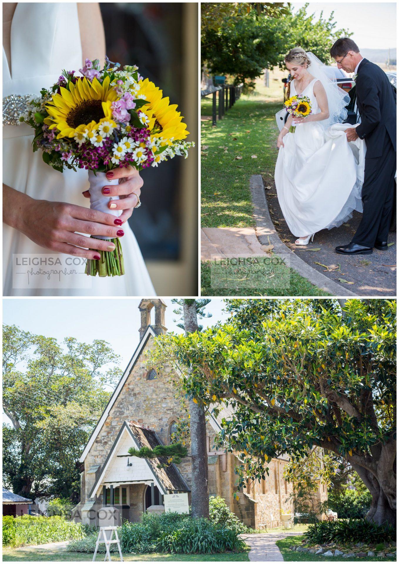 woodville bride arrival
