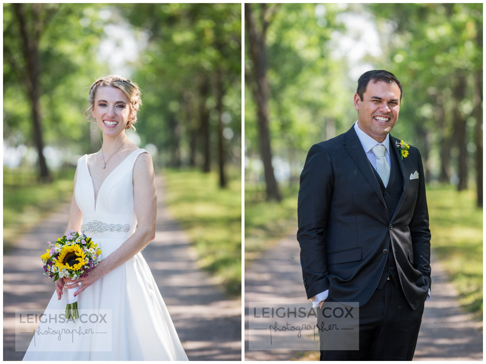 Woodville bride and groom