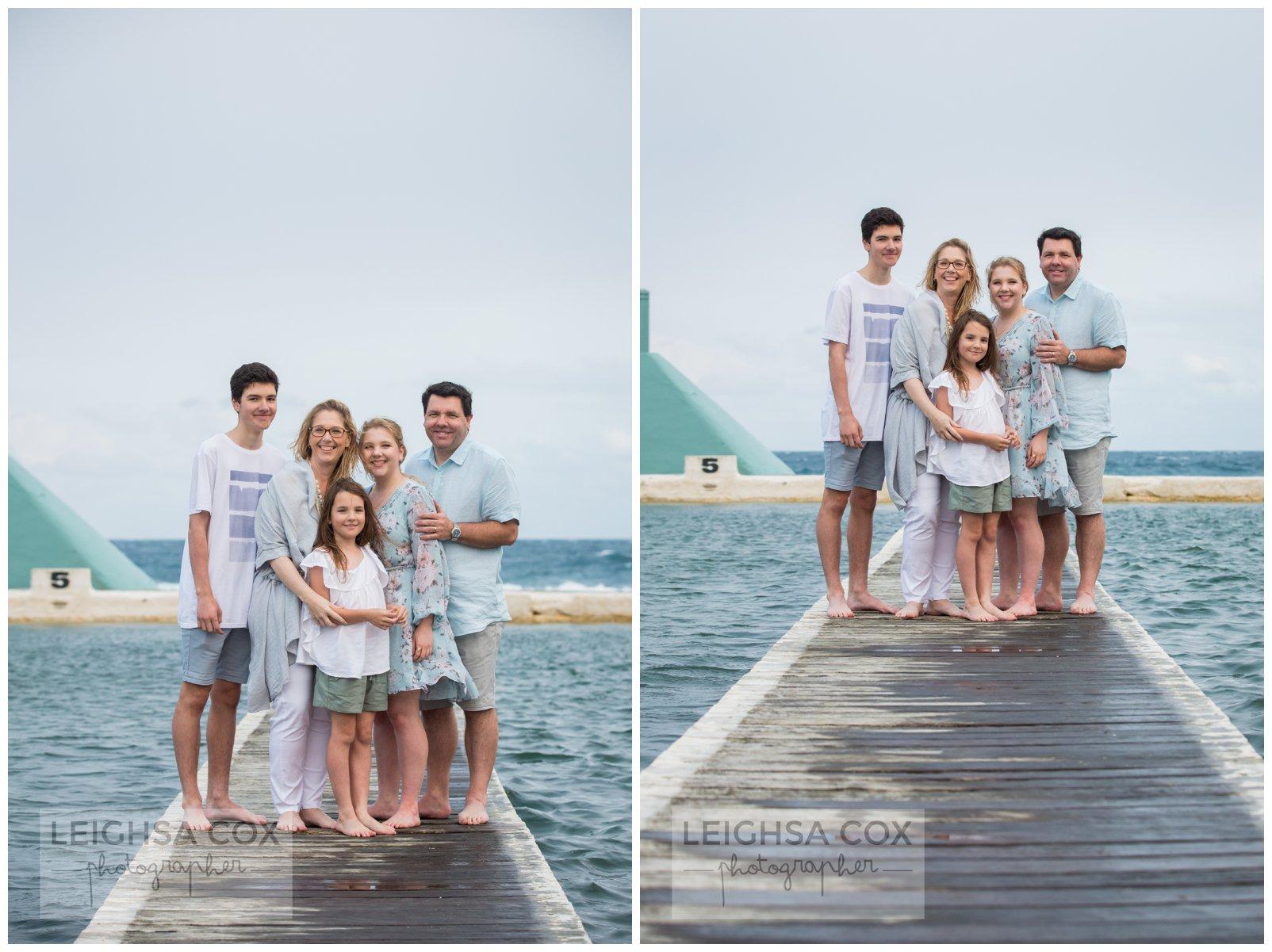 Windy Newcastle Baths Family