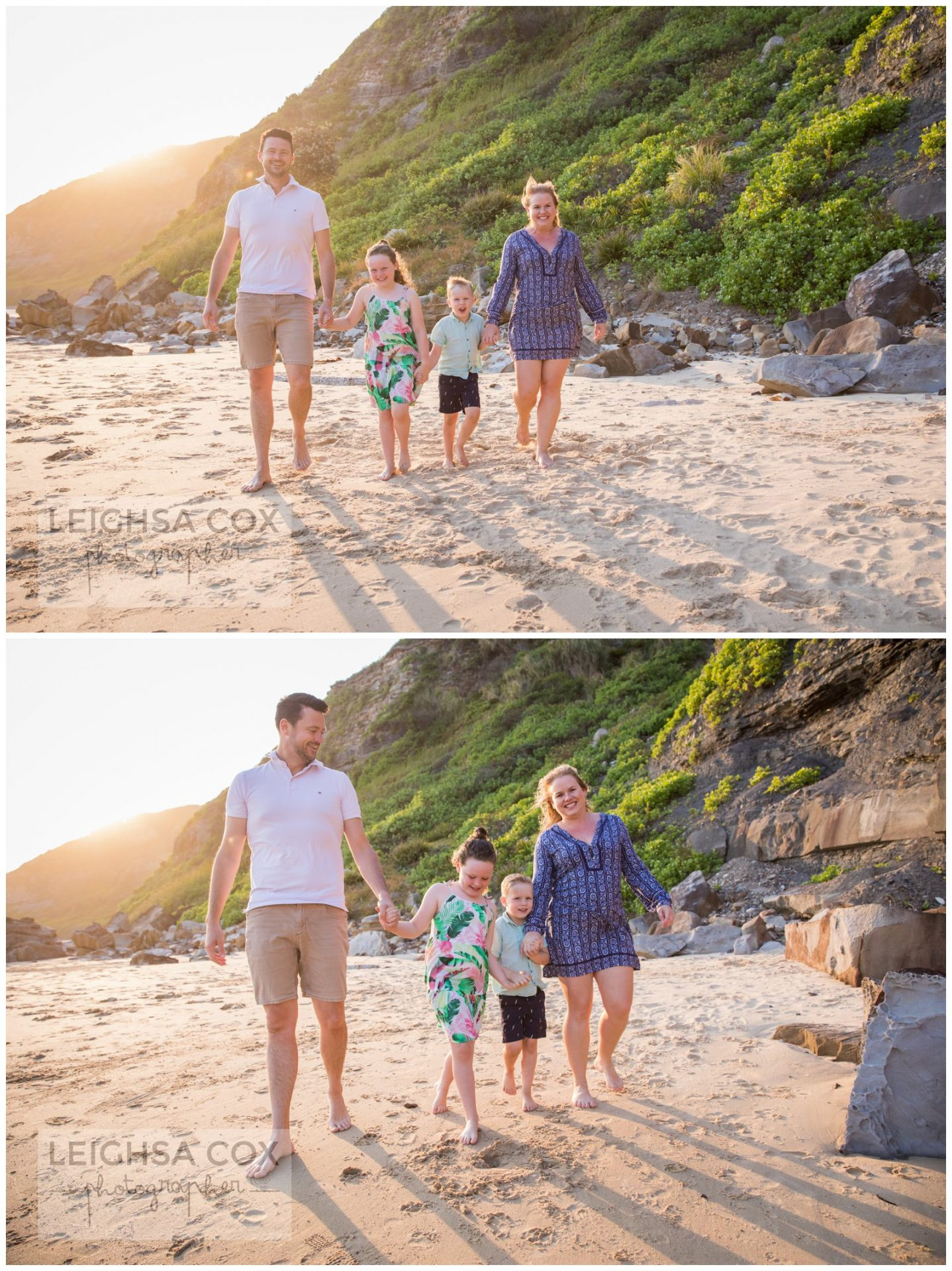 Family beach portraits - Newcastle