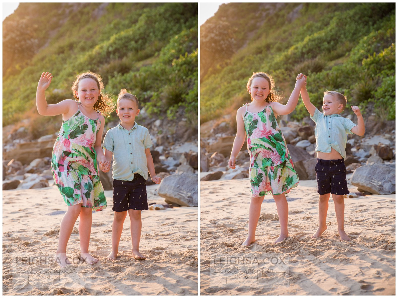 fun beach portraits