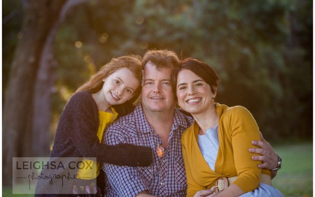 Sunset family portraits Morpeth