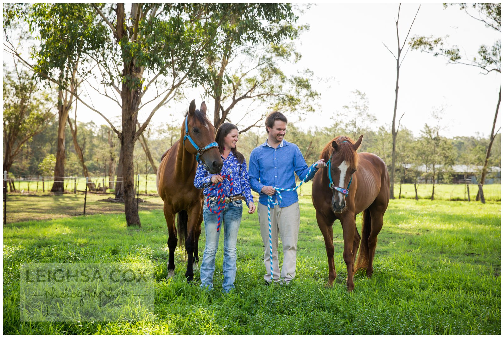 couple and horses hunter valley