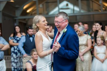 Bride and father dance at reception. hunter valley photographer.