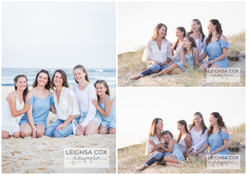 beach portaits in blue and white