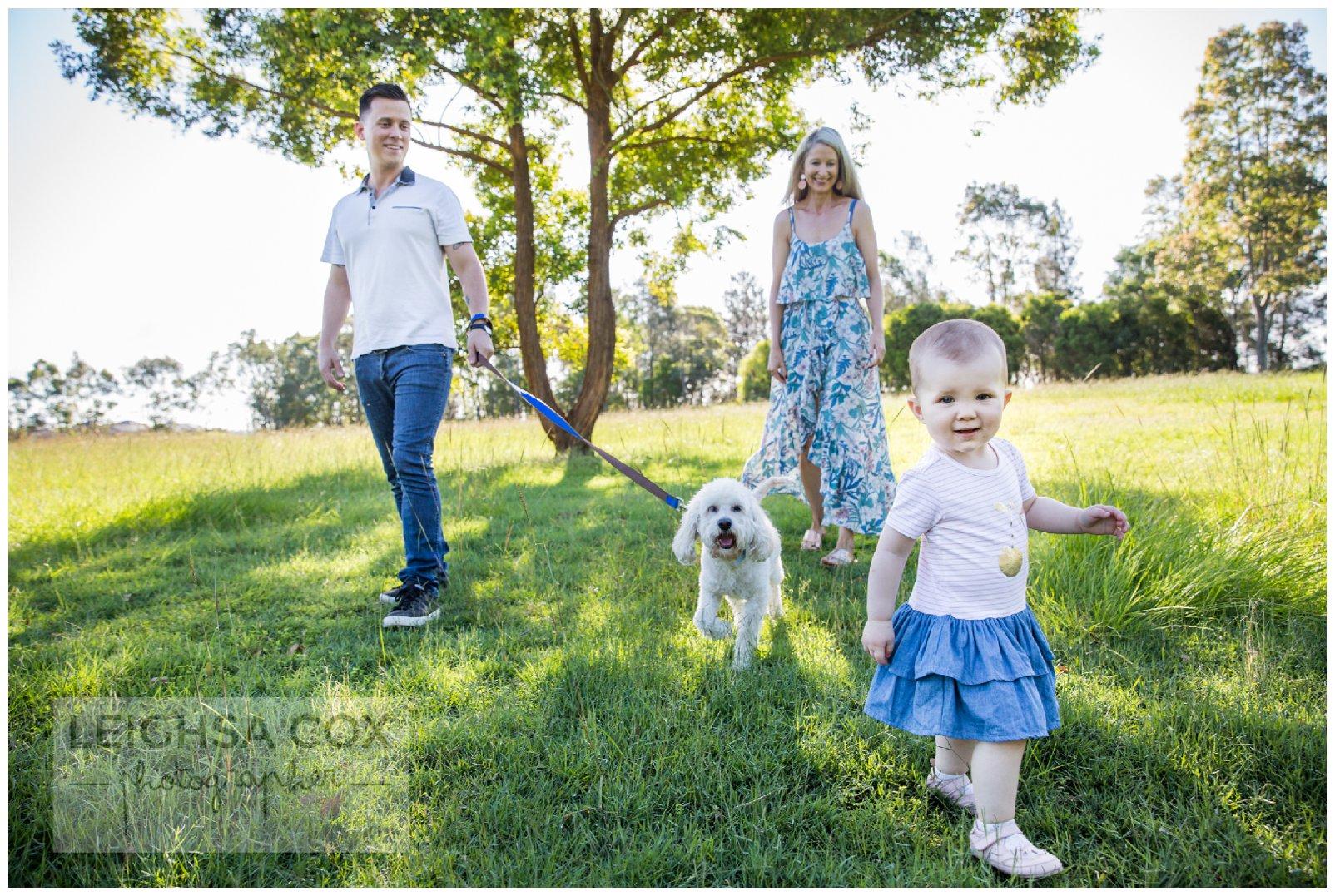walking the dog, east maitland family