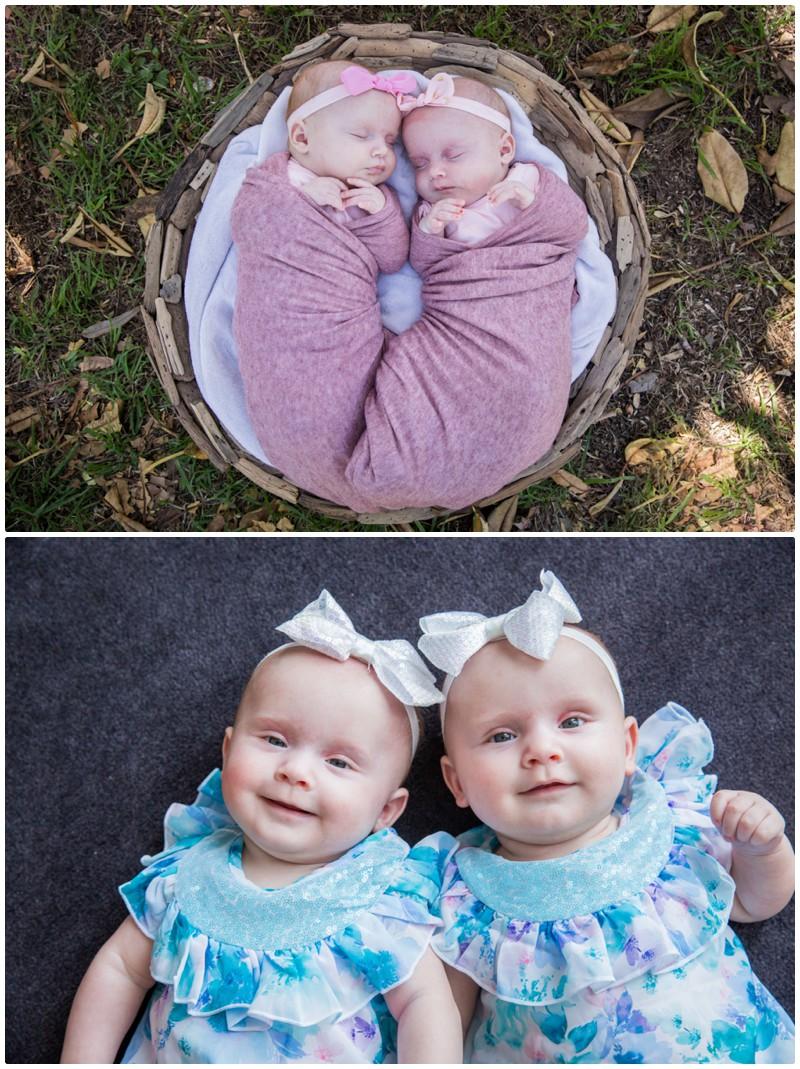 newborn and seven months