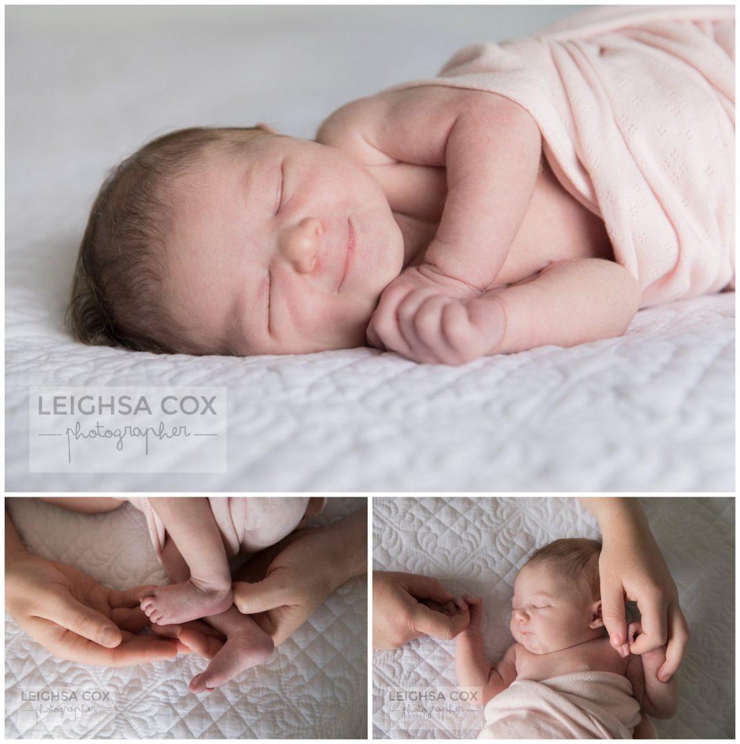 newborn details and smiles