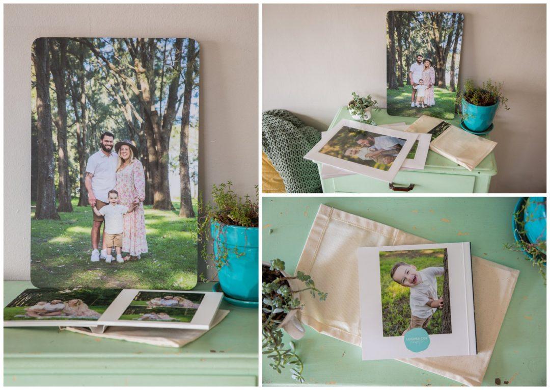 Family portrait prints and album