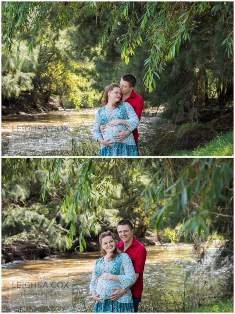 pregnant couple Hunter Valley