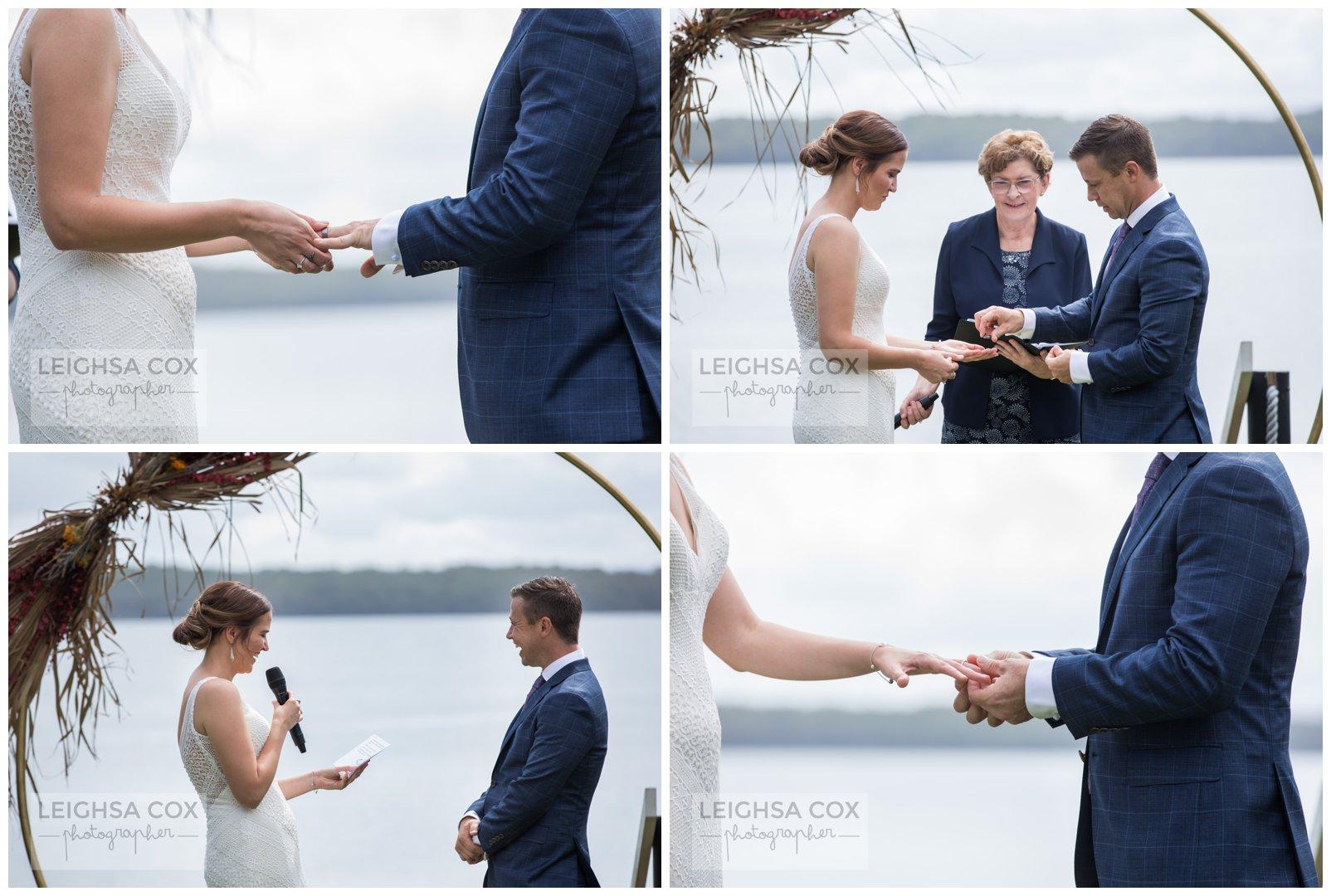 Raffertys Resort wedding ceremony