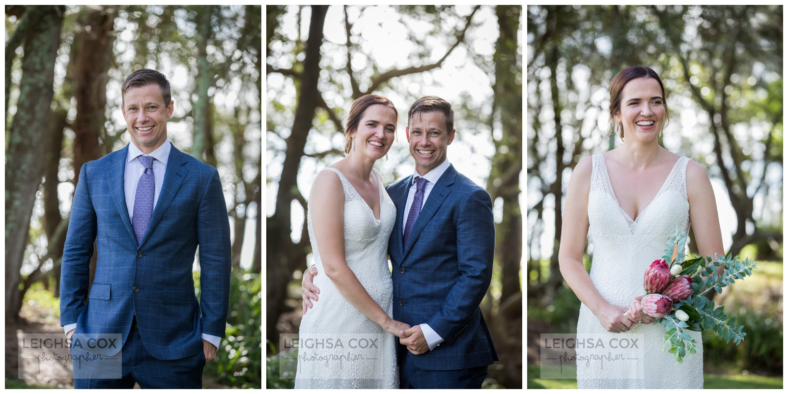 bride and groom lake mac