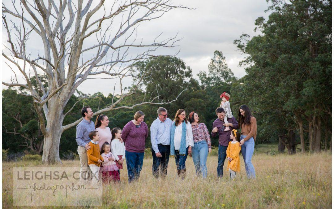 Whole family on the farm Maitland